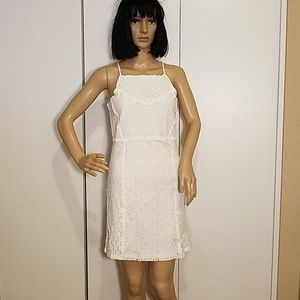 NWT! Paper Crane Lined White Lace Summer Dress